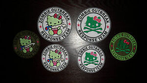 Hello kitty zombie outbreak response team embroidered patch