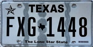 Texas The Lone Star State American  License Licence Number Plate Tag FXG 1448