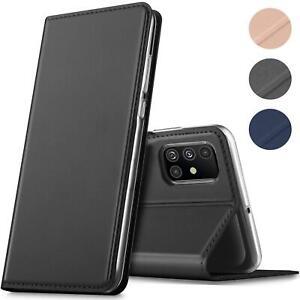 Handy-Huelle-Samsung-Galaxy-A51-Book-Case-Schutzhuelle-Tasche-Slim-Flip-Cover-Etui
