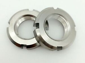 M130 304 Stainless Steel Fine Thread Locknut Slotted Castle Nut Select M10
