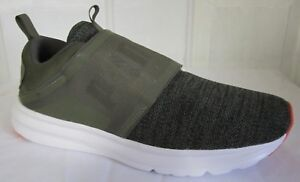 60cb61ffee9d7e Image is loading Puma-Enzo-Strap-Knit-Olive-Green-Men-Running-