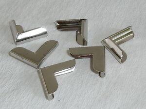 100 Stück Buchecken Metallecken Ecken 20x20x3 mm vernickelt NEUWARE