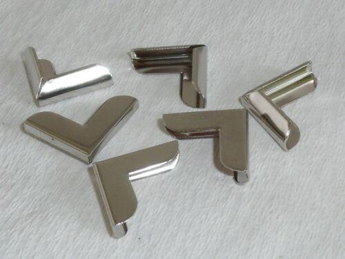 50 Stück Buchecken Metallecken Ecken 20x20x3 mm vernickelt NEUWARE