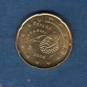 Spanien 2008 20 Cent Euro Münze Neu Rolle Ebay