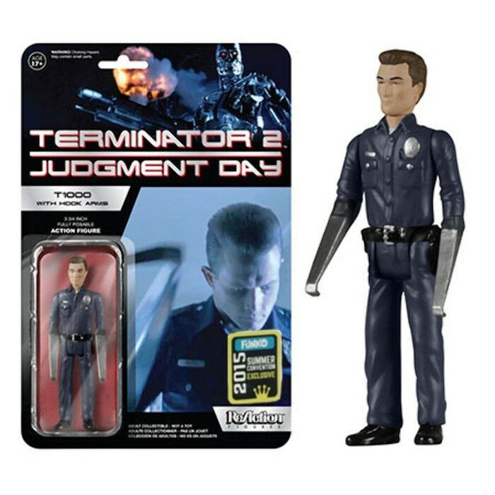 FUNKO REACTION TERMINATOR 2 T1000 WITH HOOK ARMS VINTAGE RETRO FIGURE NEW  T 100