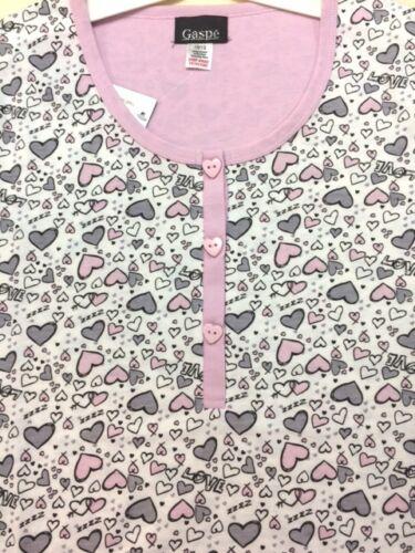 Cotton Mix Nightshirt Slenderella Gaspe Womens Short Sleeve Premium Quality
