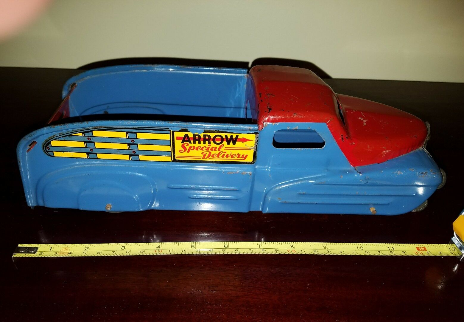 Original vintage marx arrow special delivery pressed steel toy truck tin toy lot