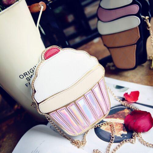 Popcorn Messenger Hamburger Cupcake Shape Shoulder Bag Purse Handbag Crossbody