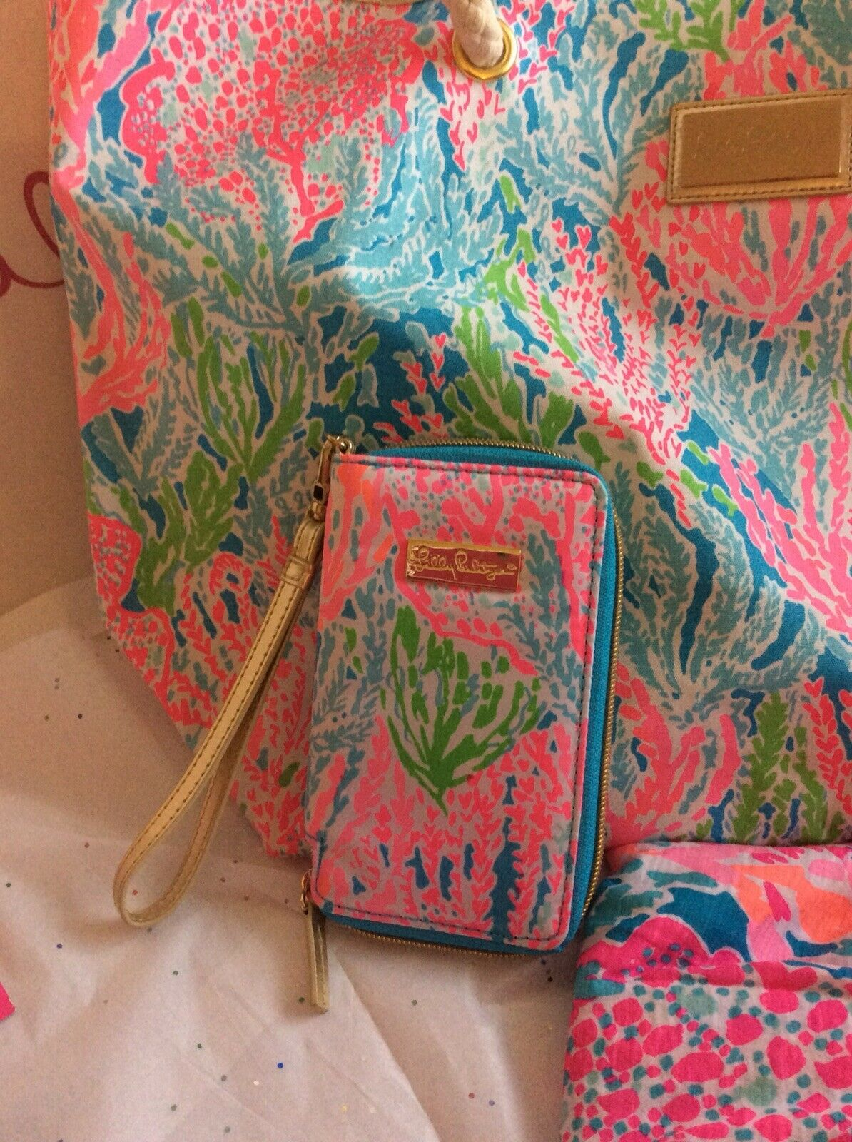 Lilly Pulitzer Lets Cha Cha  Wristlet NWOT