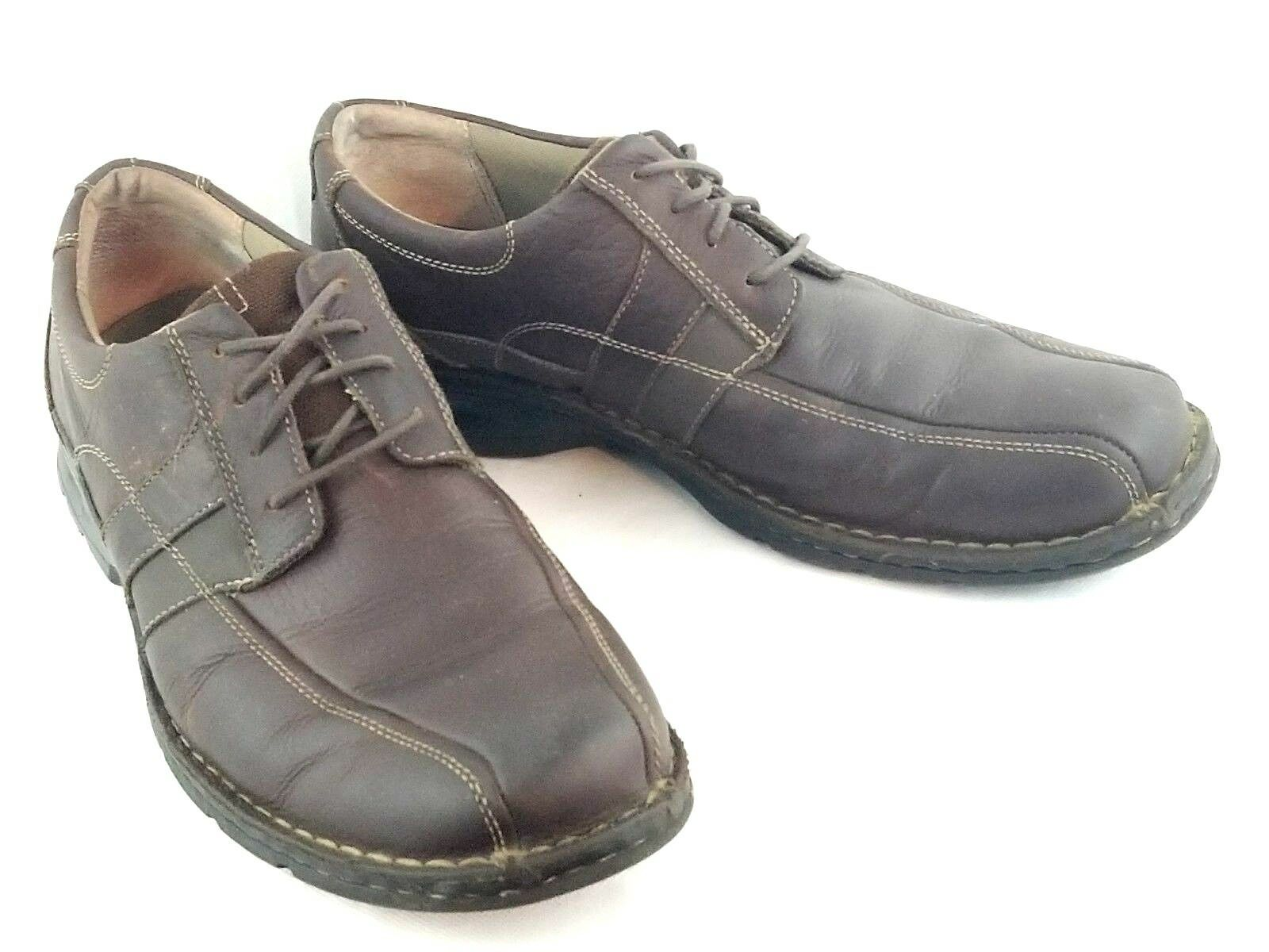 Clarks Mens shoes Brown Oiled Leather Lace Up Oxford Walking shoes 86235 Sz 12 M