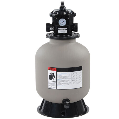 """16/"""" Swimming Pool Sand Filter Above Inground Pond Fountain Fit 1//2HP 3//4HP Pump"""