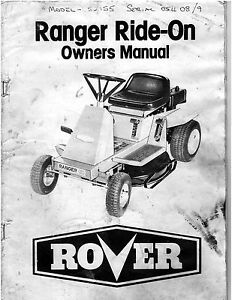 rover ranger xc 5244 5250 5255 5275 ride on mower 28 page owners rh m ebay ie rover ride on parts list rover rancher ride on mower manual