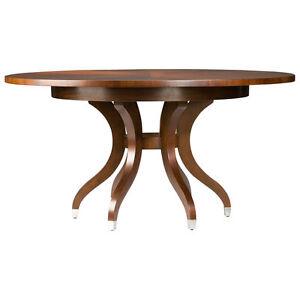 ethan allen wood round pedestal 60 ashcroft dining table with 18 leaf ebay. Black Bedroom Furniture Sets. Home Design Ideas
