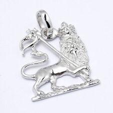 Lion of Judah Anhänger klein aus 925 Sterling Silber Löwe Rastafari Bob Marley