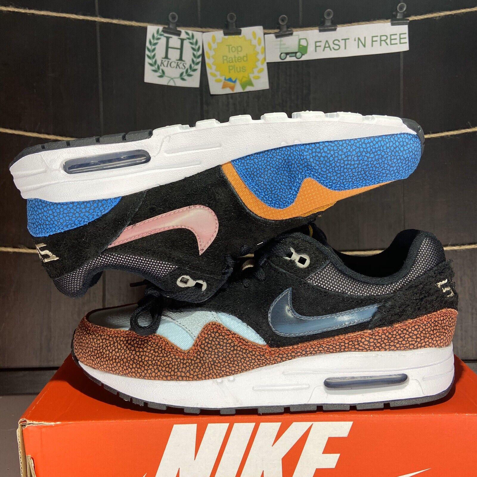 Nike De'Aaron Fox Air Max 1 Swipa the Fox CJ9888 001 Youth Grade School Sizes