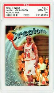 Jamal-Mashburn-1997-Topps-Finest-REFRACTOR-277-PSA-10