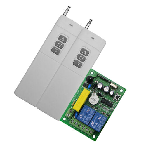2 Channel AC220V 10A Wireless RF Remote Control Receiver Relay Switch 433MHz