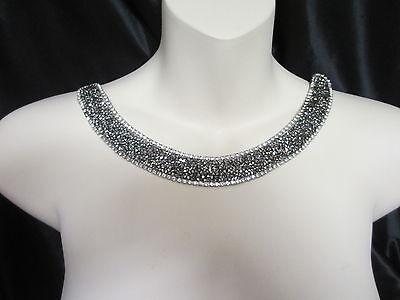 """8 1/2""""  Sparkling Neckline Collar  Applique - STUNNING!!"""