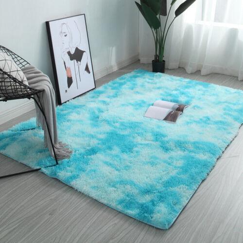 Fluffy Rugs Anti-Skid Shaggy Area Rug  Room Carpet Floor Mat Home Bedroom NeNWNI