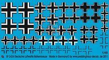 Peddinghaus 1/48 Balkenkreuz (Iron Cross) German Luftwaffe WWII (13 types) 2424
