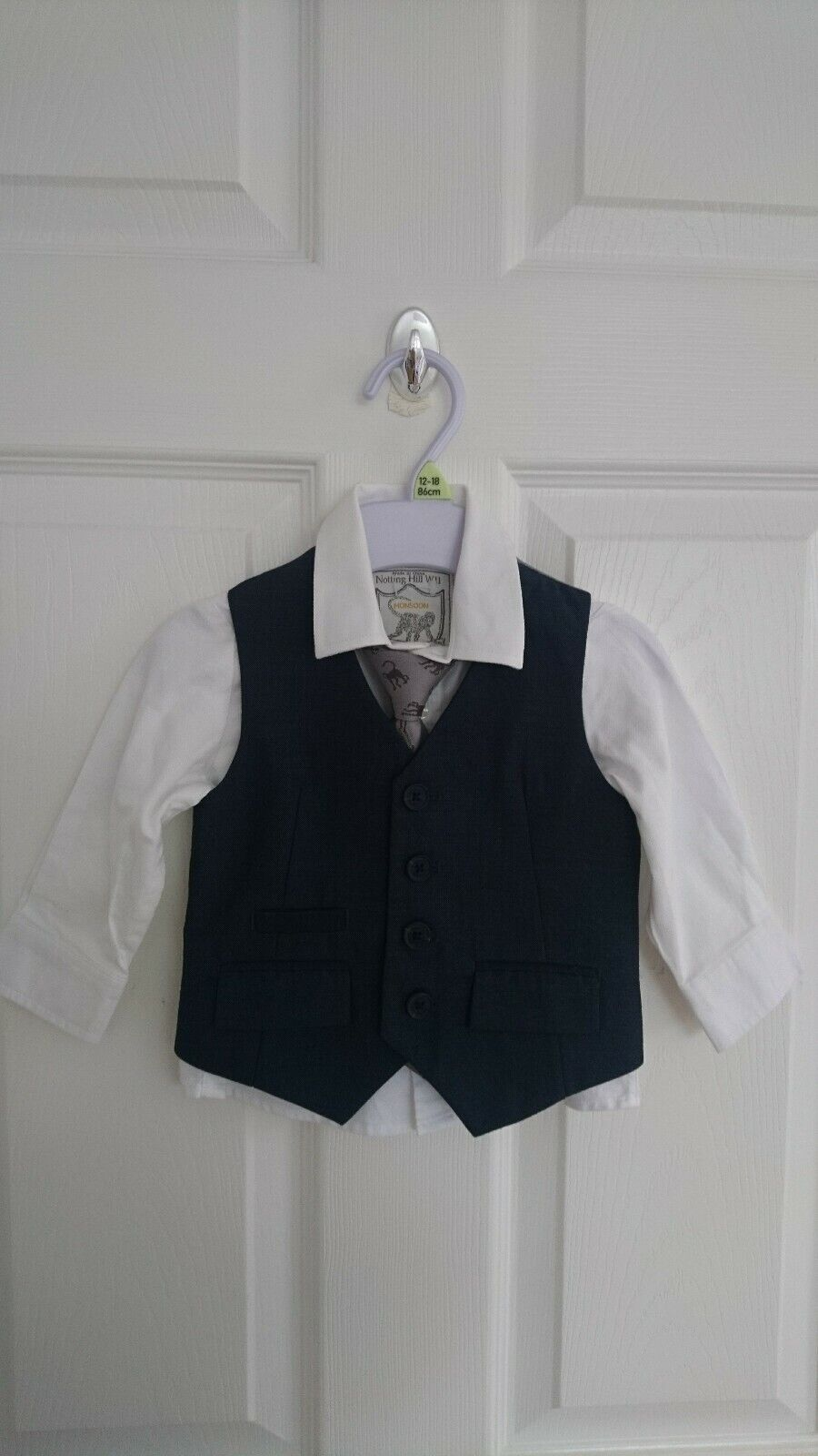 Monsoon Notting Hill W11 Baby Boys 3 Piece Suit 6-12 Months (only worn once)