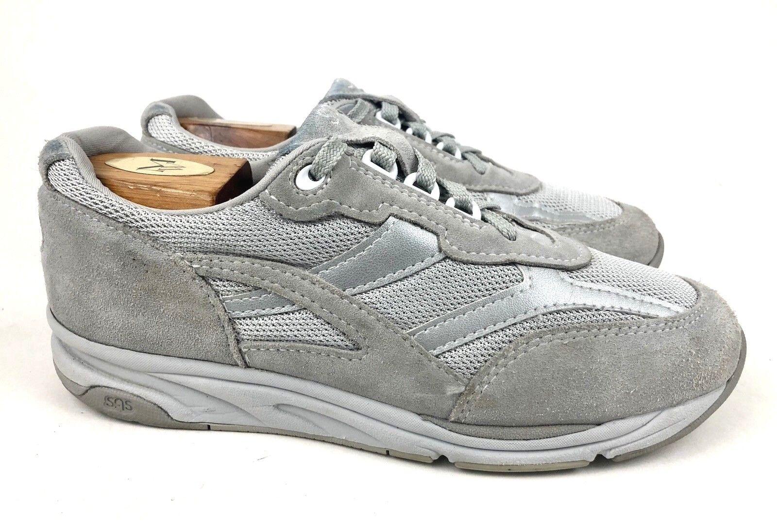 SAS     Tour Mesh gris Suede Leather Lace-Up Comfort Walking baskets   femmes 8.5 f6768c
