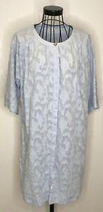 Algodon-con-textura-azul-palido-poesia-impresionante-Camiseta-Larga-Vestido-Tunica-UK-10
