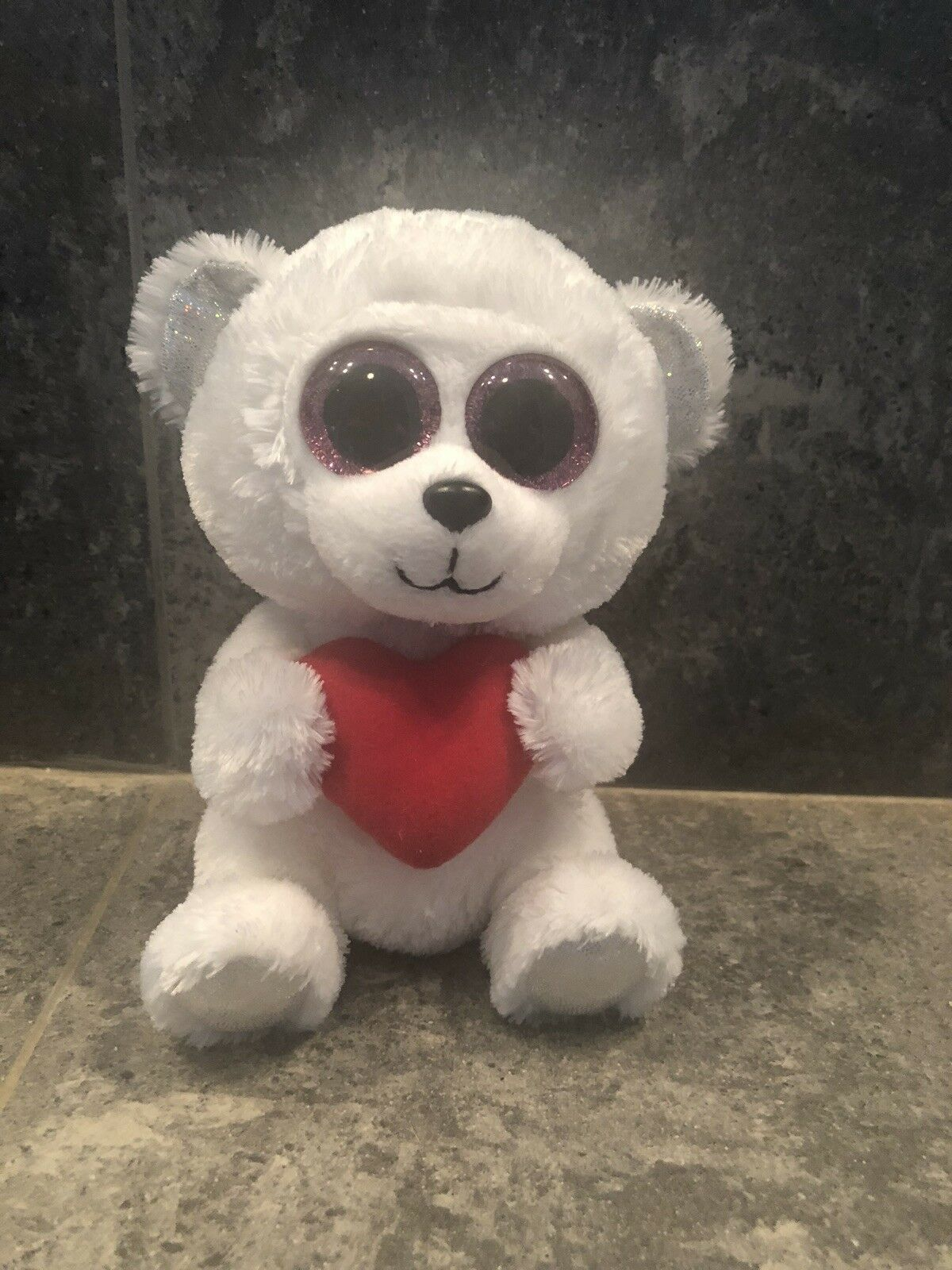 AUTHENTIC AUTHENTIC AUTHENTIC PredOTYPE Beanie BOO WHITE BEAR Museum Quality Rare 0df18f