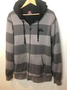 QUICKSILVER-Sweat-Hoodie-Jacket-Mens-Large-Quality-Warm-Soft
