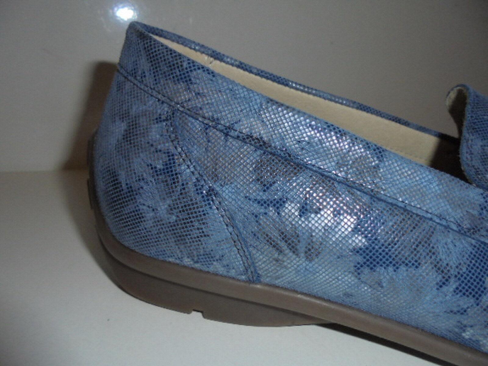 431000 Waldläufer Damenschuhe Mokassin Echtleder blau UK 8½ Gr. 42,5