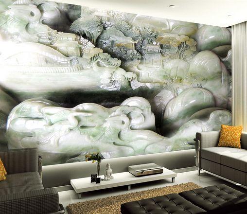 3D Jade aus großen Stein 7 Fototapeten Wandbild Fototapete BildTapete Familie DE