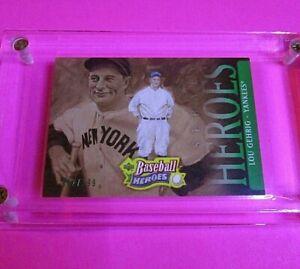 2005-Upper-Deck-Baseball-Heroes-155-GREEN-SP-d-199-LOU-GEHRIG-Yankees