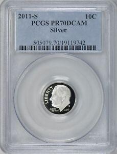 PCGS 2011-S Roosevelt Dime PR70DCAM Silver