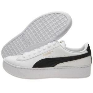 Dettagli su Scarpe Puma Vikky Platform 367550 02 BiancoNero Calzature Donna Sneakers Nuovo
