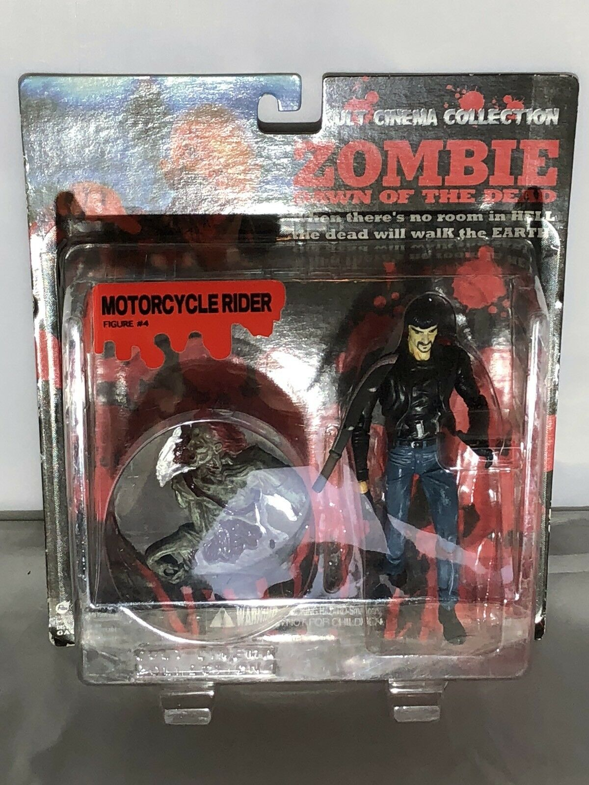 Cult Cinema Collection Zombie Dawn of the Dead Figure  3 Motorcycle Rider DOTD14