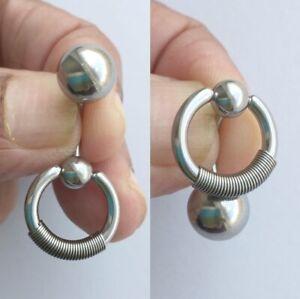 Heavy Duty Cobra Ring Vch Piercing Barbell Ebay