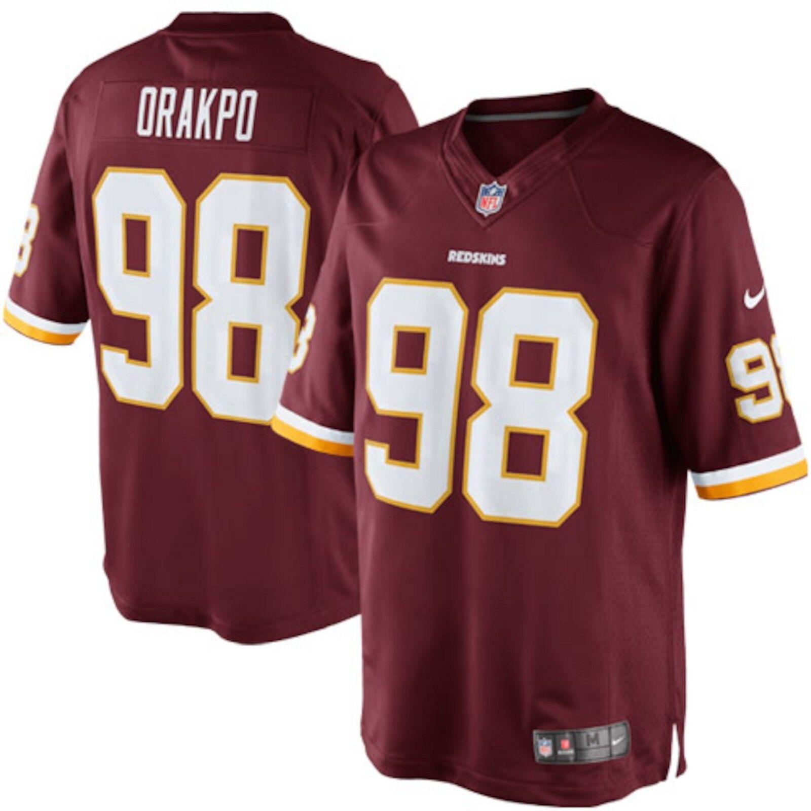 NFL Washington Redskins Men's Brian Orakpo Large Onfield Jersey NWT