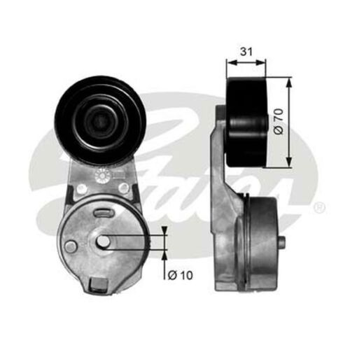 Gates Belt Tensioner Pulley Alternator for VW LT 2.8 TDI AUH BCQ 158bhp
