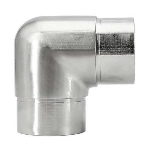 """Round tube 3-ways 90° SS316 satin finish connector Coupler for 2/"""" OD tubing"""