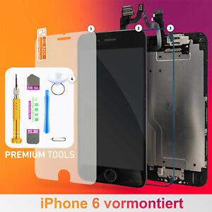 iPhone-6-Display-KOMPLETT-VORMONTIERT-Bildschirm-Retina-LCD-Glas-Front-Schwarz