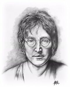 Pencil Art Drawings Of John Lennon Ebay