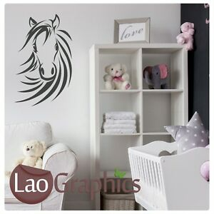 Horse-Head-Wall-Art-Sticker-Large-Vinyl-Transfer-Graphic-Decal-Home-Decor-UK-HO6
