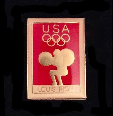 Weightlifting Olympic Pin Badge~Lot//Set of 7~Various Years~Coke~Sam~LAPD~L Rich