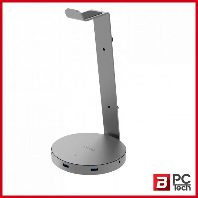 Flujo Multi-Function USB3.0 HUB Plus Headset Stand Grey