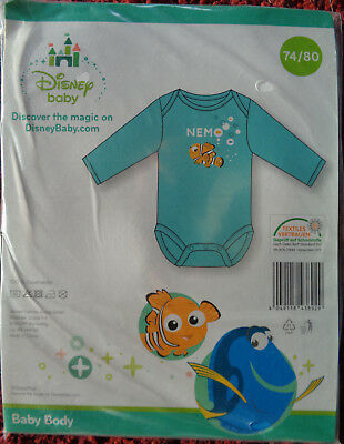 Disney Original Baby Langarm Strampler Overall Einteiler Findet Dory mit Nemo rosa