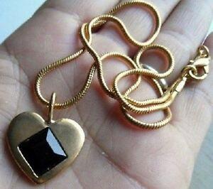 collier-chaine-pendentif-bijou-vintage-c-ur-couleur-or-pierre-noire-amour-4183