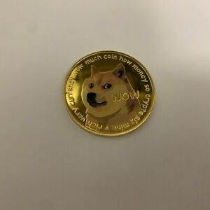 Dogecoin Commemorative Gold Plated Doge Coin Limited Edition Collectible USA