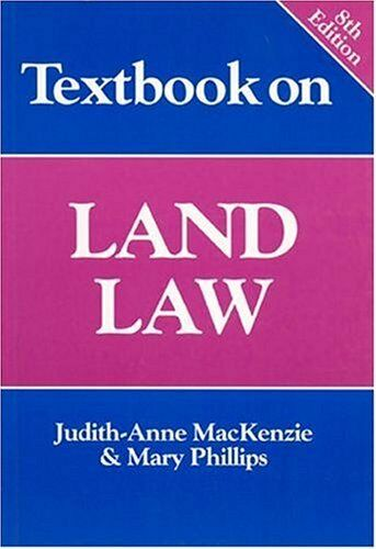 Textbook on Land Law,Judith-Anne MacKenzie, Mary Phillips- 9781854318756
