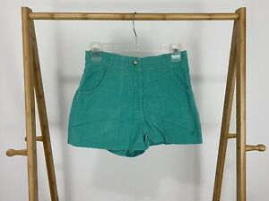 VTG-80s-OP-Ocean-Pacific-Corduroy-Bold-Teal-Shorts-Size-M