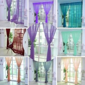Tende Cucina Porta Finestra.Decorative Voile Living Room Kids Room Kitchen Door Window
